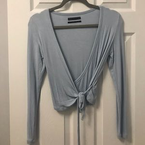 Urban Outfitters long sleeve wrap top
